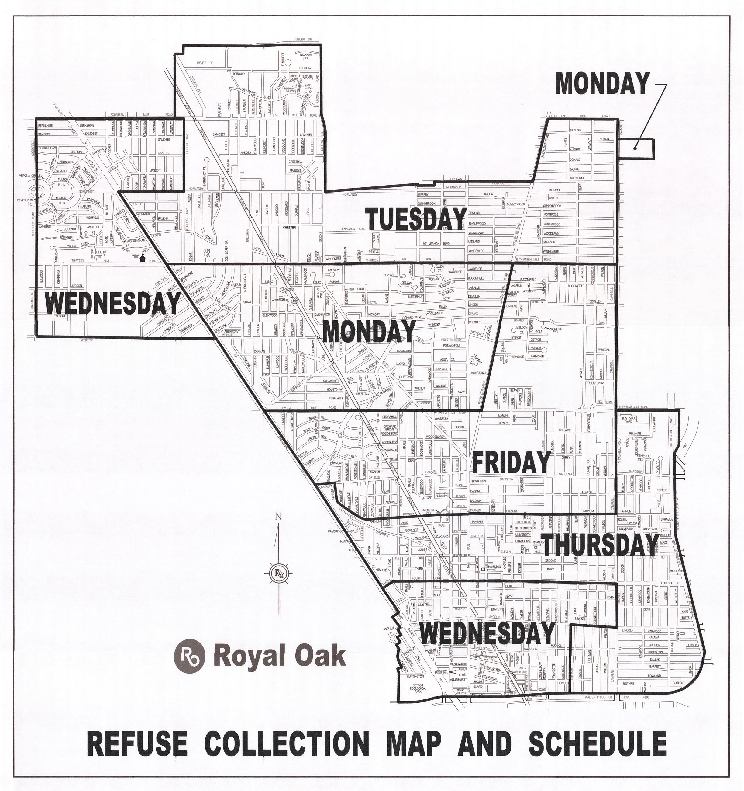 Refuse  Collect  Map 100318